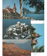 Five Edition Perrochet Lausanne Postcards/ Blank Backs/Chateau/ Hotel/La... - $2.00