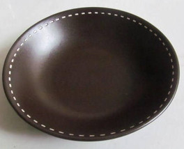 Round Ceramic Cereal Designed Brown Color with White Dashes Bowl by Euro... - $10.99