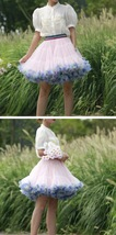 Women Girl Short Ruffle Layered Tulle Skirt Outfit Plus Size Tulle Holiday Skirt image 10
