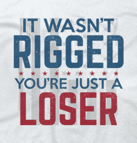 Rigged Election Loser Donald Trump Funny Shirt | Clinton Gift V-Neck T Shirt