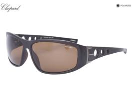 Nuovo Chopard Occhiali da Sole SCH194 Z55P Nero con / Marrone Polarizzat... - $242.08