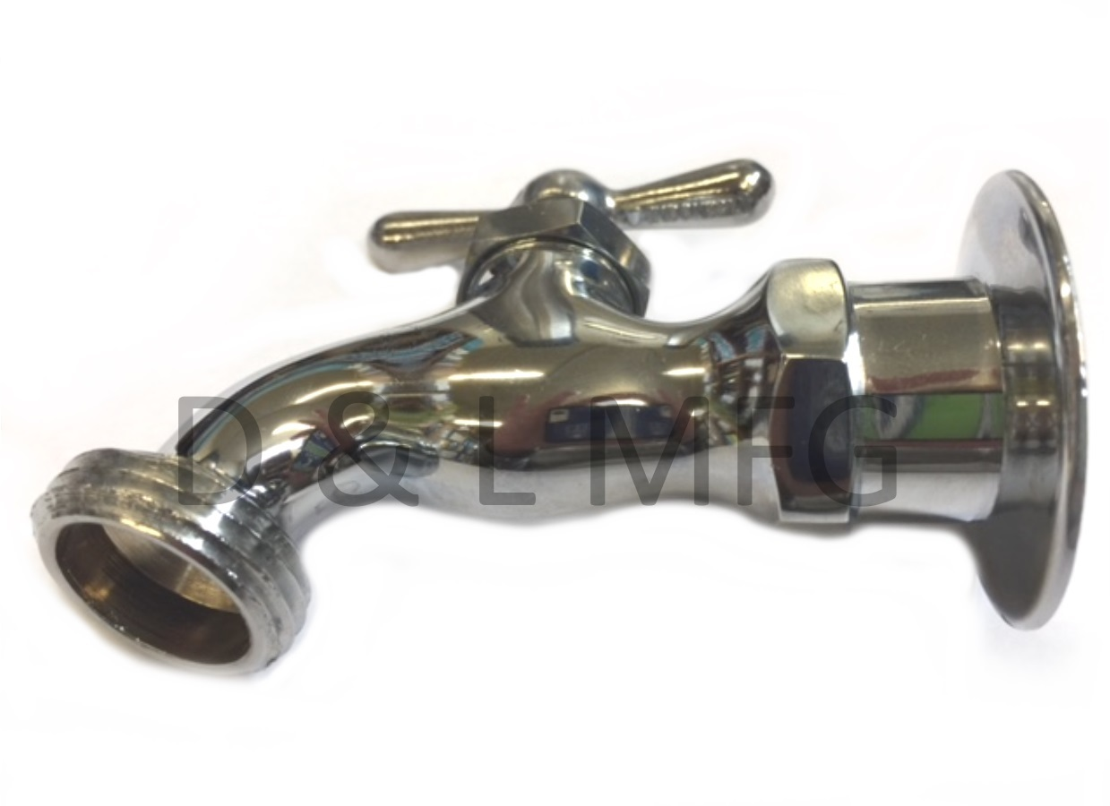 CHROME PLATED BRASS HOSE BIBBS 1//2 ips with smooth spout//CO