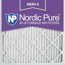 Nordic Pure 16x16x1 Pleated MERV 8 Air Filters 6 Pack - $40.26