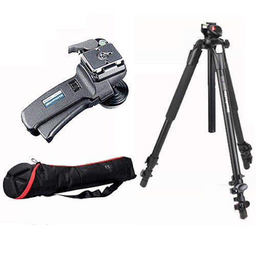 Manfrotto Bogen 055XPROB Tripod 498RC2 MBAG80PN Kit NEW