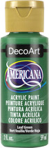 Americana Acrylic Paint 2oz-Leaf Green - Opaque - $5.62