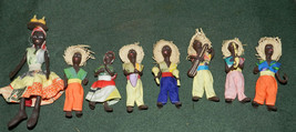 NEAT LOT OF MINI HAND CRAFTED AFRICAN? DOLLS!! - $37.08