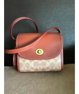 NWT Coach Originals Coated Canvas Calfskin Crossbody Bag Turnlock Lunchbox - $450.00