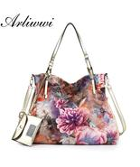 Arliwwi Brand Luxury Peony Flower Women Large Capacity Shoulder Bag. Shi... - $69.99+