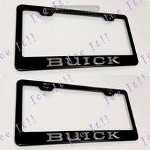 2X 3D BUICK Emblem Black Stainless Steel License Plate Frame - $37.13
