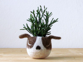 Dog lover gift / gift for her / succulent planter /Cactus planter gifts/... - $26.00