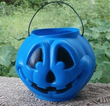 General Foam Plastics Blue Jack o Lantern Bucket USA Made Halloween Blow... - £15.04 GBP