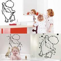 Cute Baby Shower Pattern Sticker Bathroom Glass Door Wall Decoration - $14.17