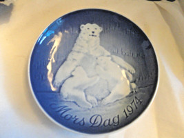 Bing & Grondahl Blue & White Mother's Day Plate 1974  6 in. Mint Wall Ha... - $14.99