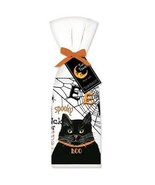 Set of Two HALLOWEEN BLACK CAT Spooky Trick r Treat Flour Sack Towel 100... - $22.26