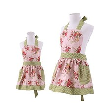 Fashion Lovely Floral Garden Apron New Classic Style Pink Floral Cotton ... - $30.22