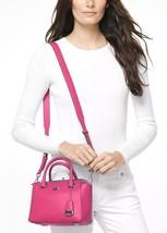 Michael Kors Nolita Mini Messenger ULTRA PINK Polished Leather Crossbody... - $2.053,61 MXN