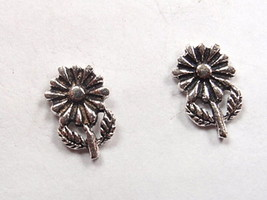 Daisy Flower Stud Earrings 925 Sterling Silver Corona Sun Jewelry garden - $3.47