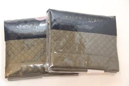 1 Ralph Lauren WYATT Quilted Standard Sham Tweed Green $130 - $40.80