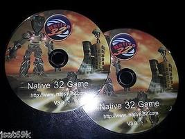 Pair of Headrest Dvd Player Monitor Native 32 Bit Game Cds - $14.84