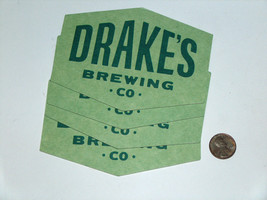 (4) lot Drake's Beer manufacturing co. sl ca cover since 1989 cardboard ... - $9.09