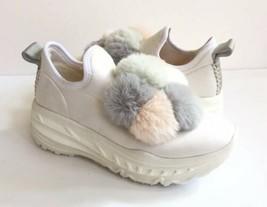 Ugg Dot Runner White Pom Pom Platform Sneakers Shoes Us 7 / Eu 38 / Uk 5 - $120.62