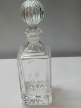 Lenox hand Cut glass square Crystal decanter - $41.94