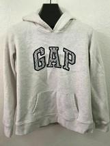 GAP Grey Big Logo Pullover Hoodie Pockets Jacket Women's Size L Large - $21.34