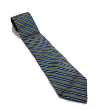 """Tommy Hilfiger GREEN AND BLUE MENS SILK NECK TIE 58"""" LONG 3.75"""" WIDE - $13.85"""