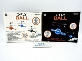 2x I-Fly Ball Flying Ball RC Toys Rechargeable Light Up Ball Drone Hand ... - $29.65