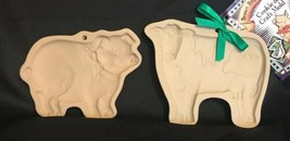 Lot of 2 | Brown Bag Cookie Art Mold Animals | COW & PIG  Great Condition - $6.00