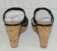 City Classified Layka S Black Sandal Wedge Heel Size 6 And Half image 4