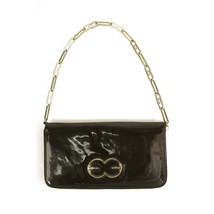 Escada Black Patent Leather Zip Around Chain Shoulder Bag Clutch Handbag... - £82.90 GBP
