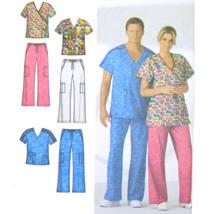 Simplicity 4378 Unisex Misses Mens Short Sleeve Scrub Top Pants Easy M L... - $6.95
