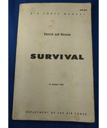 1 Book Survival Air Force Search & Rescue Manual AFM 64-5 August 1969 - $12.00