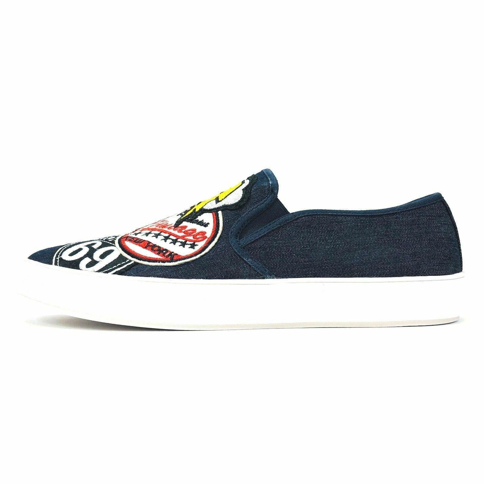 Steve Madden Wasdin Navy Blue or Military Denim Slip On Loafers Mens Vintage image 4