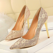 Shoes Heels Heels Women High Woman Shoes Wedding Lace Sexy Thin Poin Pumps 2018 FdfpUxq