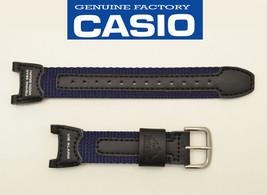 CASIO  Pro Trek Watch Band FISHING GEAR BLACK & NAVY BLUE STRAP PRS-400B   - $26.51