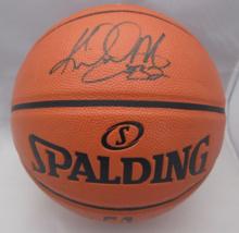 KARL MALONE / NBA HALL OF FAME / AUTOGRAPHED FULL SIZE NBA LOGO BASKETBALL COA image 1