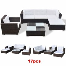 Patio Sectional Sofa Set Garden Furniture Clearance Rattan Outdoor Wicke... - $690.29