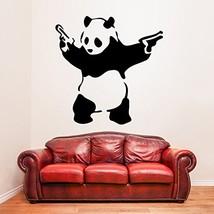 ( 47'' x 47'') Banksy Vinyl Wall Decal Panda with Pistols / Street Graffiti Art  - $61.51