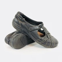 CLARKS Womens Size 8.5 M Black Leather Closed Toe Sandals Shoes Hook Loo... - €21,10 EUR