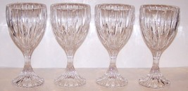 "STUNNING SET OF 4  MIKASA CRYSTAL PARK LANE 6 3/4"" WATER GOBLETS - $46.27"