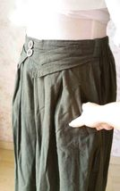 New Army Green Long Skirt.Long Skirts for Women.Linen Long Asymmetrical Skirts