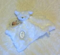 Security BEAR Blanket Beyond WHITE ROSETTE Faux Fur Christening CROSS Ba... - $19.34