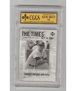 2001 Upper Deck Legends New York Times 191 Mickey Mantle GEM 10 MT Cggs  - $11.65