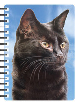 BLACK CAT 3D NOTEBOOK,  PAD ORGANISER ADDRESS BOOK 3D LENTICULAR - $5.53