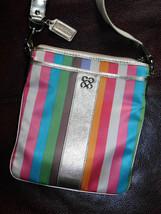 Coach Julia Striped Legacy Swing Pack Cross Body Bag 46801 - $45.60