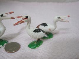 Vintage Miniature Bird Stork Pelican 1 5/8 x 1 1/2  Inches  Crafts 3 PC image 5
