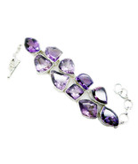 jaipur 925 Sterling Silver bonnie Natural Purple Bracelet gift SBRAAME-2... - $113.08