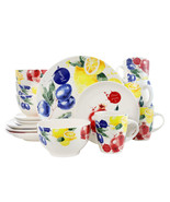 Elamas Tuscan Amore 16 Piece Luxury Dinnerware Set with Complete Place S... - $81.24